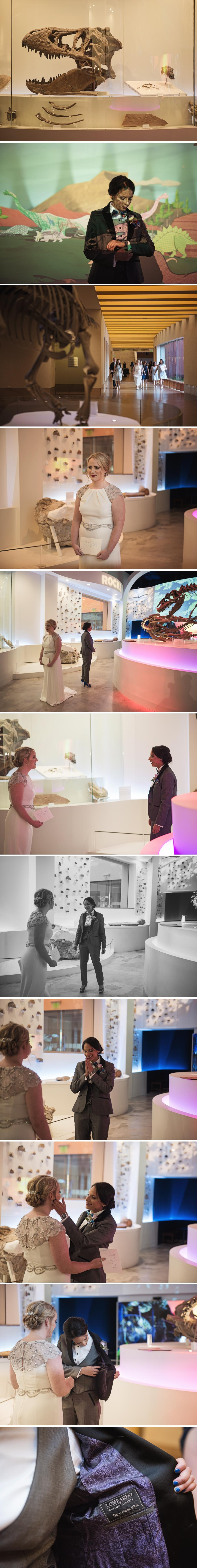 Same Sex First Look Wedding at Fort Worth Museum of Science and History