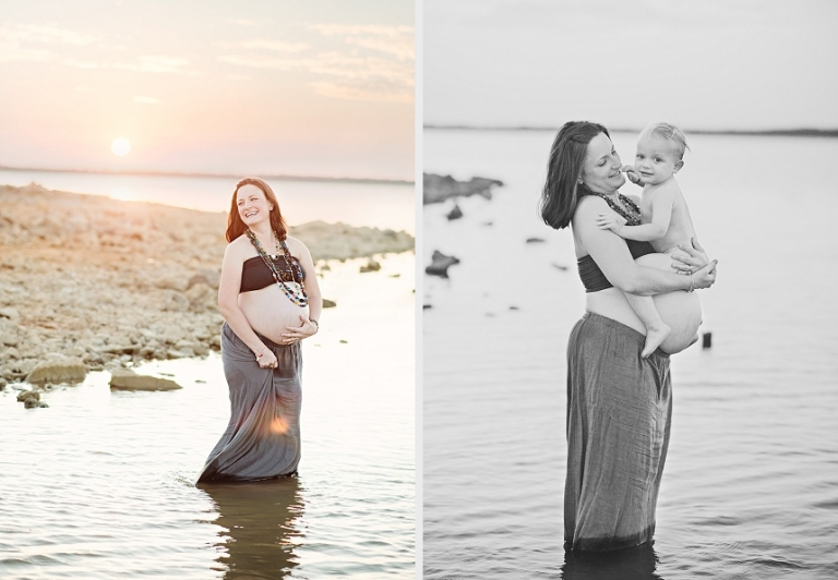 Maternity Pictures in Water - Miranda Marrs Photography