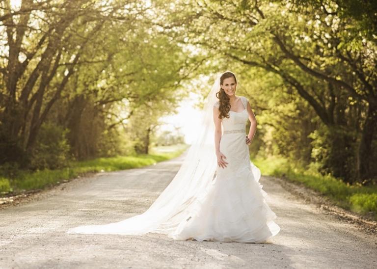 Texas Sunset Bridal Portraits - Miranda Marrs Photography
