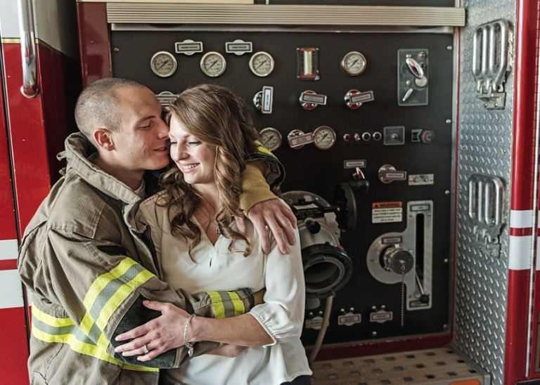 Firefighter Engagement Session (Miranda Marrs Photography)