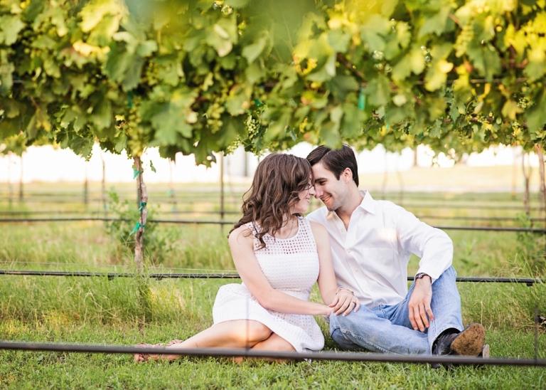 Vineyard Engagement Session - Miranda Marrs Photography