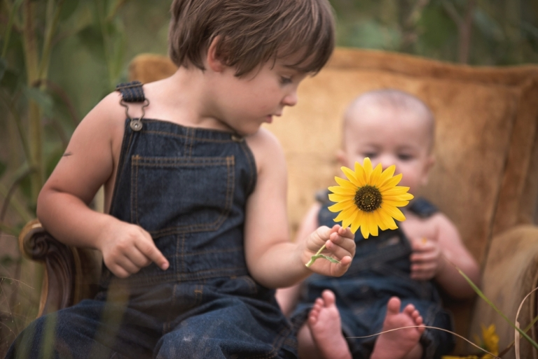 Denton Family Photographer - Photo session in Sunflowers