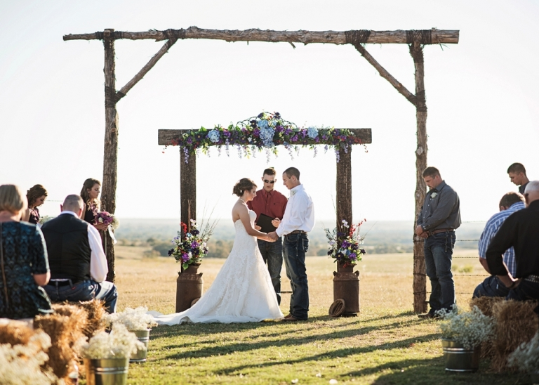Outdoor Texas Wedding with a Rustic, Country Theme
