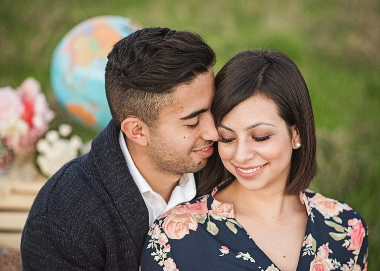Texas Spring Engagement Shoot with Dog