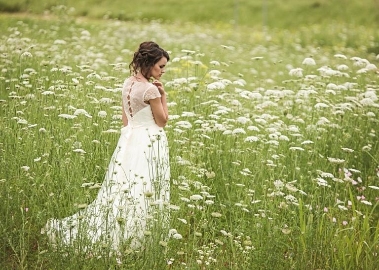 McKinney Bridal Portraits in Wildflowers