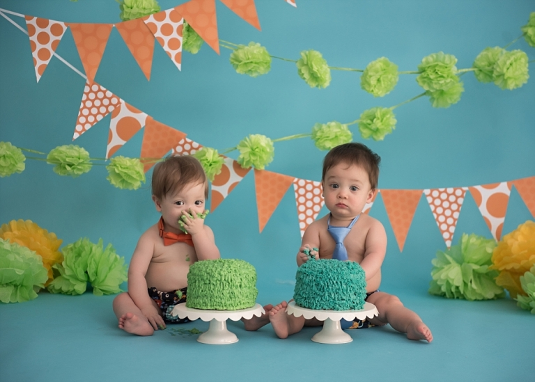 Twin Cake Smash Frisco Photographer