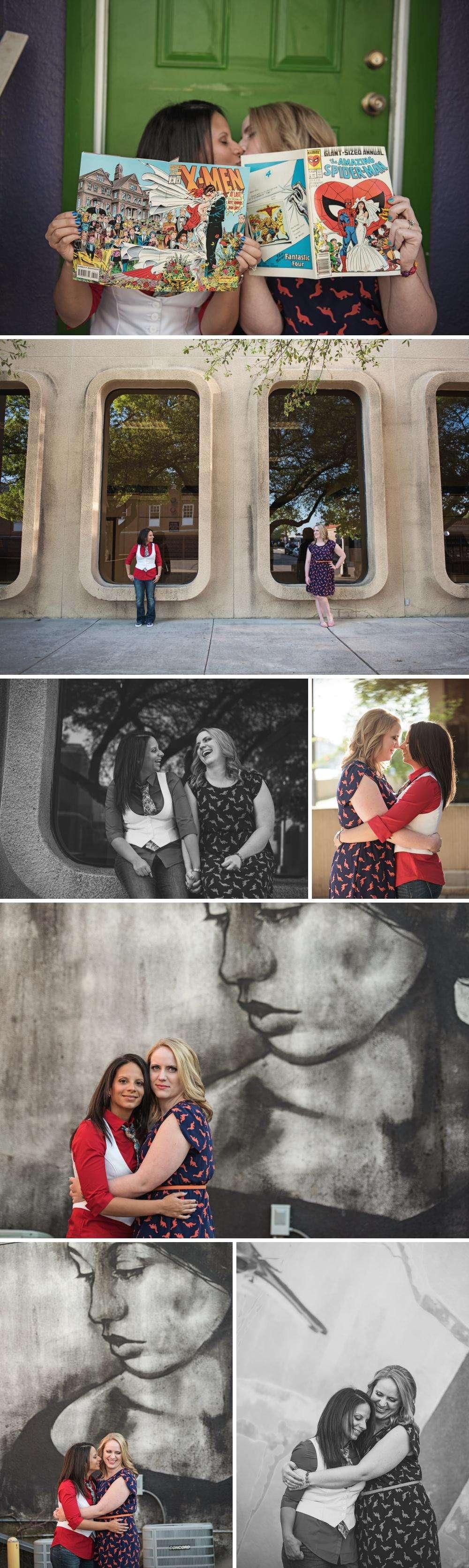 Nerdy Engagement Photos in Denton, TX