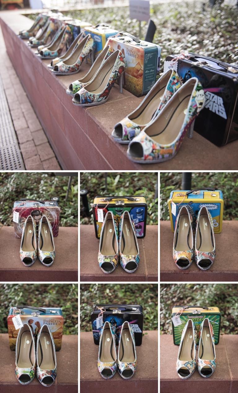 Comic Book Wedding Shoes