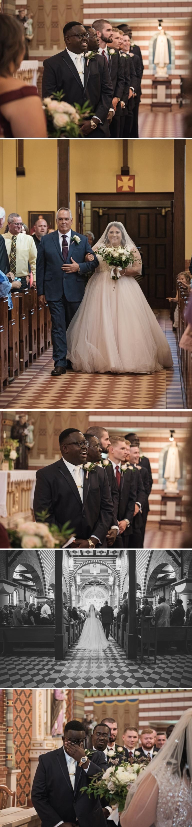 Gorgeous and Glam Catholic Church Wedding in Texas