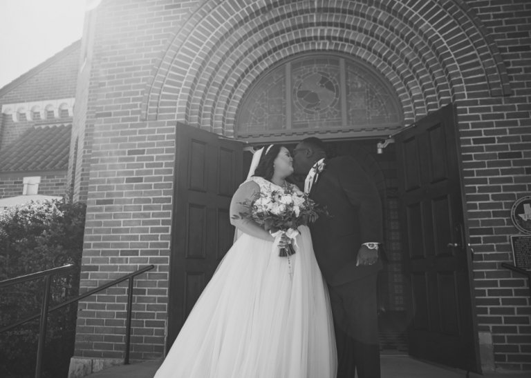 Gorgeous and Glam Catholic Church Wedding in Texas