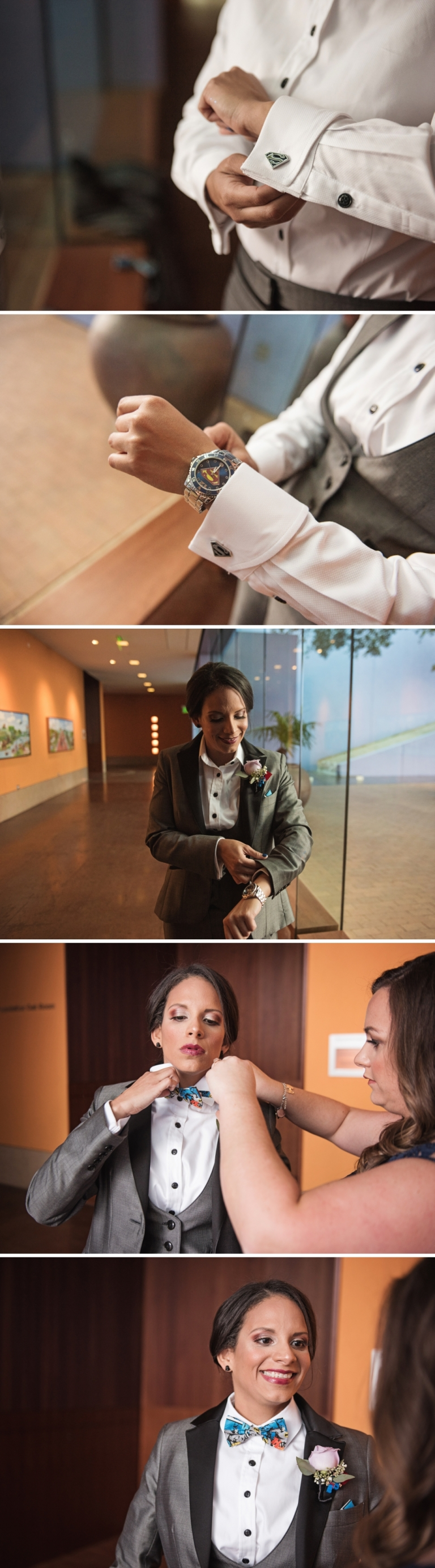 Same Sex wedding at Fort Worth Museum of Science and History