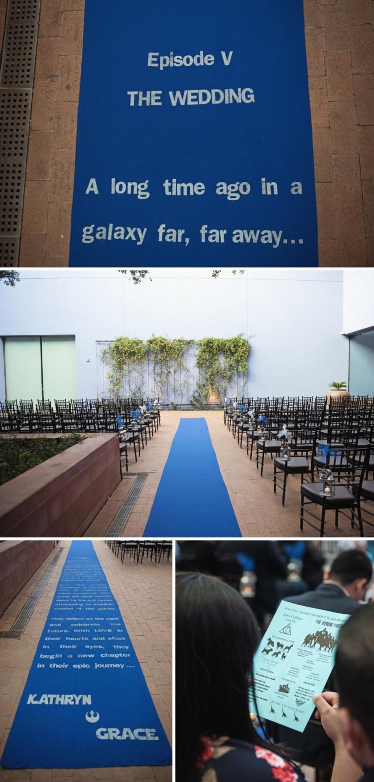 Star Wars Aisle Runner for Geeky Wedding