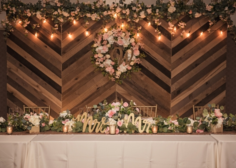 Beautiful Gold and Pink Wedding in Gainesville