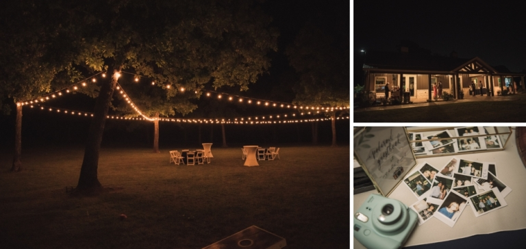 Outdoor wedding at the grove in aubrey