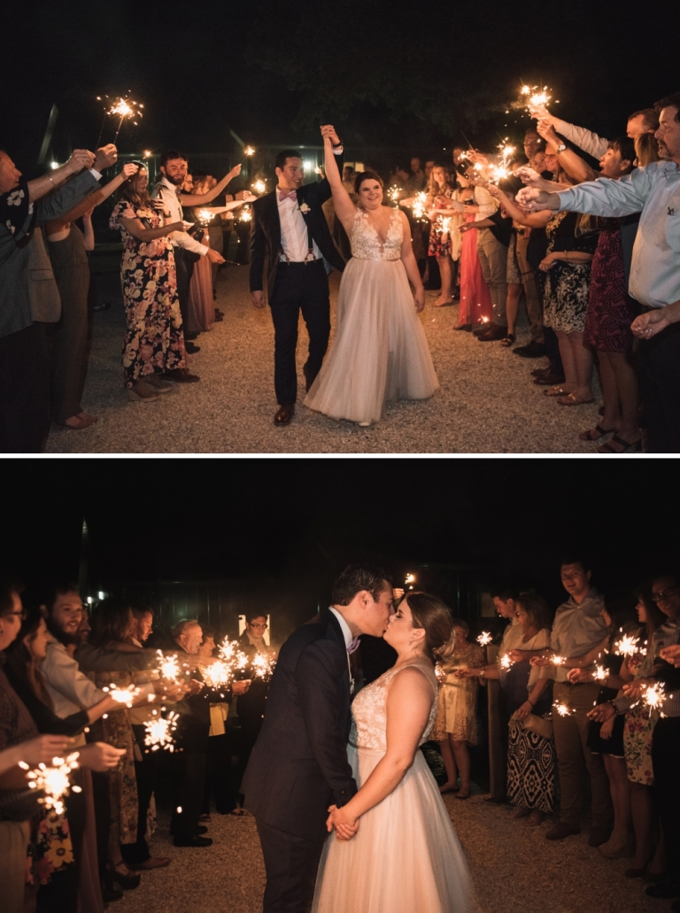 Outdoor wedding at the grove in aubrey