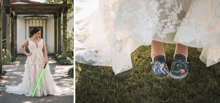 Star Wars Bridal Session at the Dallas Arboretum