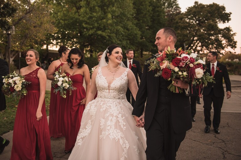 Mayo Hotel Wedding in Tulsa with ceremony at Gilcrease Museum